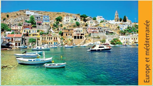Voyage et séjour en Europe ou croisière en méditerrannée