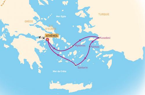 Combiné Croisière hôtel Trésors des iles grecques